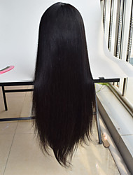 Silky straight malaysian silk base wigs 4x4 swiss lace 130% density silk top full lace glueless human wig