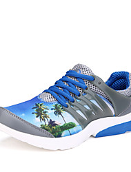 New Design Lover Shoes Men's Sneakers Comfort Tulle Athletic Shoes Casual Flat Heel Lace-up Black / Blue / Gray