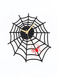 Modern Creative Spider Web Mute Wall Clock