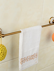 Creative Wall Mounted Single Towel Bar Brass & Ceramics Bathroom Bath Towel Rod