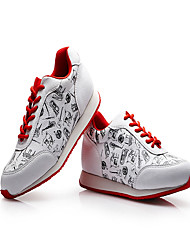 Women's Sneakers Spring Summer Fall Other Comfort PU Outdoor Office & Career Athletic Dress Casual Lace-up Red/White Walking