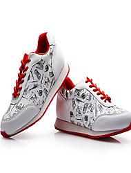 Damen-Sneaker-Outddor Büro Kleid Lässig Sportlich-PUKomfort-Rosa Rosa und Weiss Rot/Weiß Hellblau Weiß/Silber