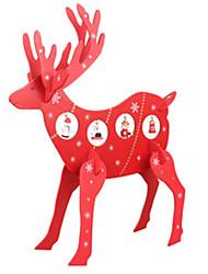 Рождественский олень из дерева лосей маятником украшение стола окна счетчик торговые центры магазин