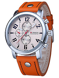 Man Large Dial Precision Steel Calendar Watch