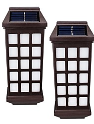 2PCS Retro Solar Fence Lights Solar Wall Lamps for Garden Decorative