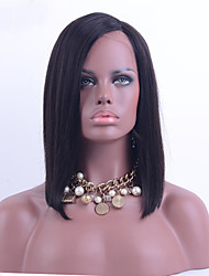 Top Grade Short Brazilian Virgin Hair Full Lace Bob Wig Straight Hair Unprocessed Natural Black Color Human Hair Lace Wig For Black Woman
