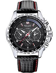 MEGIR Masculino Relógio Esportivo Relógio Militar Relógio Elegante Relógio de Moda Relógio de Pulso Quartzo Digital CalendárioCouro
