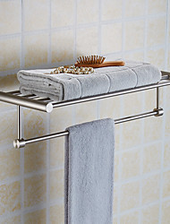 New Arrival Luxury Bathroom Accesseries High Quality Stainless Steel Bath Towel Shelves Towel Rack Towel Bar Bath Hardware