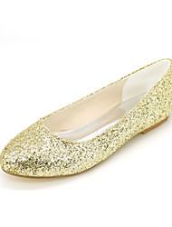 Women's Flats Spring Summer Fall Glitter Wedding Party & Evening Casual Flat Heel Gold Black Sliver