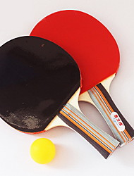 3 Stars Table Tennis Rackets Rubber Long Handle Raw Rubber 1 Racket 1 Table Tennis Ball Indoor Performance Practise Leisure Sports
