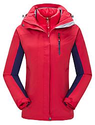 Trilha Moletom Mulheres Impermeável Respirável Térmico/Quente A Prova de Vento Primavera Outono Inverno Tactel Vermelho Rosa CianoM L XL