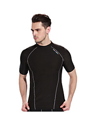 Running Tops Men's Breathable Quick Dry Moisture Permeability High Breathability (>15,001g) Lightweight Materials LYCRA®Yoga Exercise &