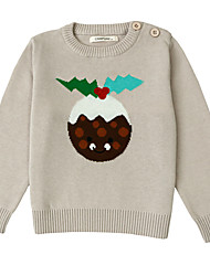 Unisex Going out Casual/Daily Holiday Polka Dot Color Block Embroidered Sweater & Cardigan,Cotton Winter Spring Fall Long Sleeve Regular
