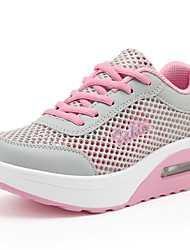 Women's Athletic Shoes Spring Summer Fall Creepers Comfort Tulle Outdoor Office & Career Casual Platform Lace-up Blue Pink WhiteWater