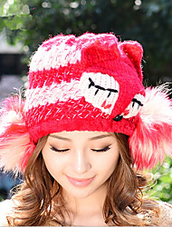 New Fashion Hip - Hop Wind Cartoon Fox Wool Cap Women 'S Single Hat Warm Wool Hat