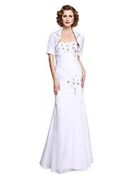2017 Lanting bride® trompete / sereia mãe do vestido de noiva - elegante duas peças do assoalho-comprimento de cetim stretch sem mangas