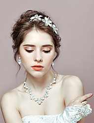 Jewelry 1 Necklace 1 Pair of Earrings 1 Hair Jewelry Imitation Pearl Rhinestone Wedding Party Imitation Pearl Rhinestone 1set WomenAs Per