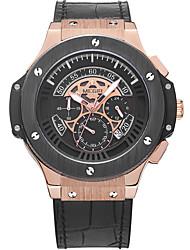 Men's Sport Watch Military Watch Dress Watch Fashion Watch Wrist watch Quartz Digital Calendar Genuine Leather Band Vintage Charm Casual