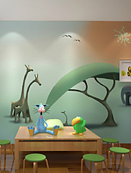 JAMMORY Art DecoWallpaper For Home Wall Covering Canvas Adhesive required Mural Cartoon Children's Room Landscape XL XXL XXXL