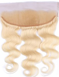 13*2 lace frontal beautiful #613 human hair body wave 8-20inch 3 part for women