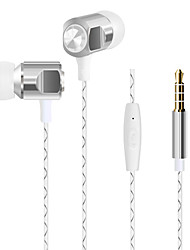 HUAST HST-56 Plastic shell earphone with microphone in ear earphones for girls head phone earbuds noodle line For mp3