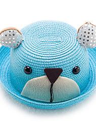 Summer Children Straw Hat Cute Cartoon Panda Baby Straw Hat Children Sun Hat