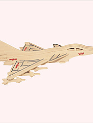 Jigsaw Puzzles Wooden Puzzles Building Blocks DIY Toys Annihilates - 10 Fighter 1 Wood Ivory Model & Building Toy