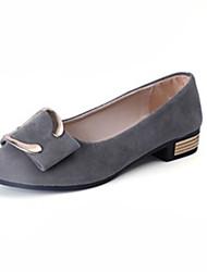 Для женщин Обувь на каблуках Удобная обувь сутулятся сапоги Полиуретан Осень Зима Повседневные Удобная обувь сутулятся сапогиНа низком