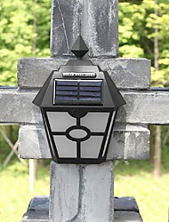 Retro LED Solar Lights Outdoor Garden Solar Led Wall Lamp Waterproof Pathway Solar Led Street Lights Fence Roof Terrace Lighting
