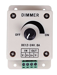 PWM Dimming Controller For LED Lights or Ribbon 12 Volt 8 AmpAdjustable Brightness Light Switch Dimmer Controller DC12V 8A 96W for Led Strip Light