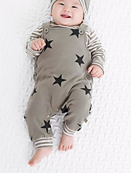 Baby Polka Dot Striped One-Pieces,Rayon Spring Fall Long Sleeve