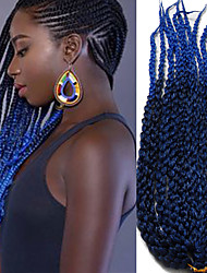 Crochê torção cúbico Havana Box Tranças Tranças torção Extensões de cabelo fibra sintética Tranças de cabelo