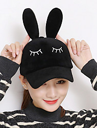 Fashion Winter New Rabbit Plush Rabbit Eyelashes Ears Baseball Cap Tide Models Cap