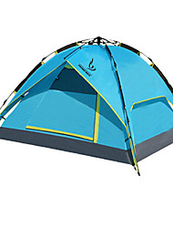 3-4 persons Tent Double One Room Camping Tent Fiberglass PU MeshWaterproof Breathability Rain-Proof Dust Proof Windproof Ultra Light(UL)