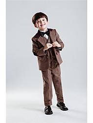 Serge Ring Bearer Suit - Five-piece Suit Pieces Includes  Jacket Shirt Vest Pants Bow Tie
