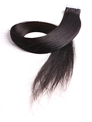 Neitsi 24'' 20Pcs/pack 2g/pc Tape in Natural Colour Human Hair Extensions Virgin Skin Weft Extensions