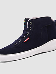 Men's Sneakers Winter Comfort PU Athletic Flat Heel Gore Black Blue Navy