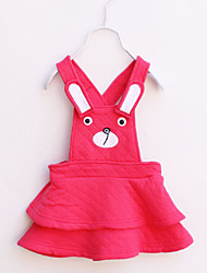 Girl's Cotton Casual Spring/Fall Going out Casual/Daily Bunny Sweet Skirt Sleeveless Overalls Princess Vest Dress