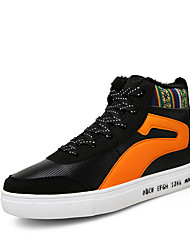 Men's Athletic Shoes Spring Fall Winter Other Leather Outdoor Casual Athletic Lace-up Black Orange