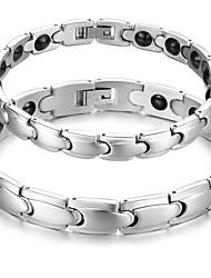 Men's Couple's Chain Bracelet Steel Jewelry Silver Jewelry 1pc