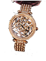 Women's Fashion Watch Simulated Diamond Watch Calendar Imitation Diamond Quartz Alloy Band Sparkle Rose Gold