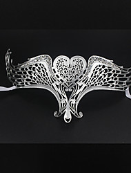 Sexy woman laser cutting masquerade crystal Venice metal mask3012A1