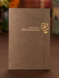 Имя, надпись на заказ Тройной сгиб Свадебные приглашения Пригласительные билеты Приглашения на вечеринку по случаю помолвки-50 Шт./набор