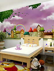 JAMMORY Art DecoWallpaper For Home Wall Covering Canvas Adhesive required Mural Children's Room Cartoon Picture XL XXL XXXL
