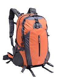 45 L Rucksack Camping & Hiking Outdoor Waterproof Zipper Orange Terylene Others