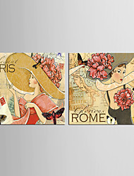 Canvas Set Cartoon POP Classic European Style,Two Panels Canvas Vertical Print Wall Decor For Home Decoration