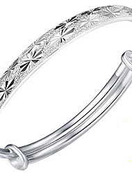 Bracelet Bangles Sterling Silver Flower Star Natural Birthday Gift Christmas Gifts Jewelry Gift Silver,1pc