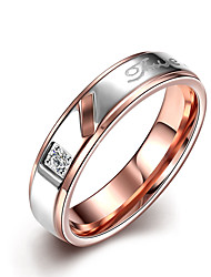 Ring Non Stone Wedding Party Daily Casual Jewelry Stainless Steel Couples Ring 1pc