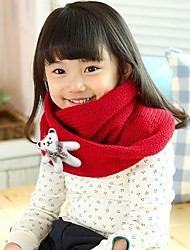 Girl's Knitting Winter Going out/Casual/Daily Warmth Cartoon Bear Neckerchief Children Scarf