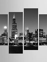 Riproduzione Paesaggi Stile Modern,Quattro Pannelli Tela ogni Forma Stampa Decorazioni da parete For Decorazioni per la casa